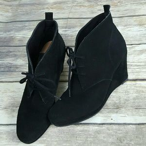 dv Dolce Vita Lace up Suede Wedge Ankle Boots